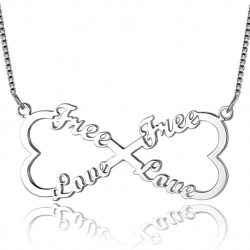 Infinity heart name necklace-4