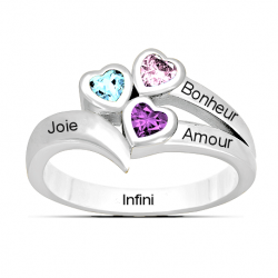 3 hearts ring design