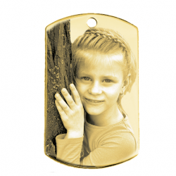 Little dog tag gold