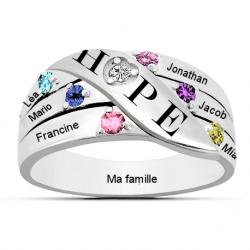 Bague famille Hope