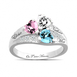 3 hearts ring