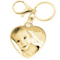 Porte clé coeur tiffany rope or