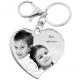 porte-clé coeur stylisé