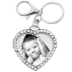 Tiffany heart zirconias key chain