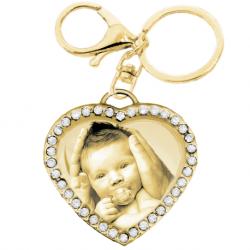 porte-clé coeur tiffany zircons