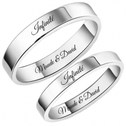 Classic couple ring set