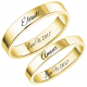 Classic gold couple ring set