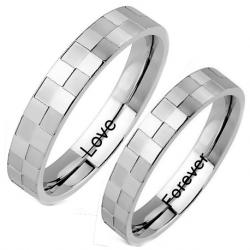 Checker couple ring set