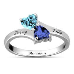 Bague couple coeur OR