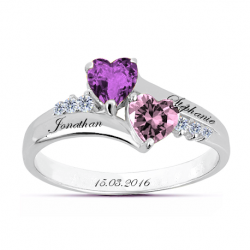 Bague amour coeur OR