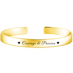 bracelet bangle or jaune