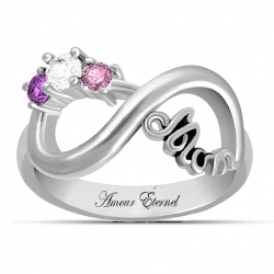 Mom infinity ring