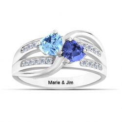 Heart love ring