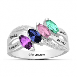 Family marquise ring