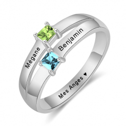 Personalised couple ring