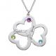 Three family hearts pendant