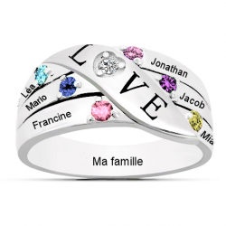 Bague famille Love OR