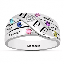 Bague famille Hope OR