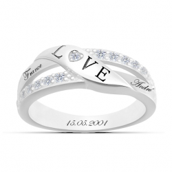 Bague engagement Love OR