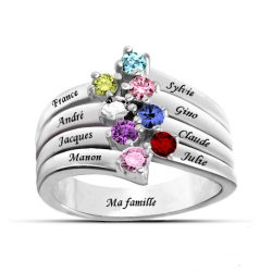 Bague famille stylée OR
