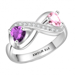 Personalized infinity ring