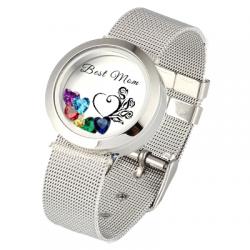 Circle locket bracelet