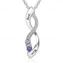 Infinity drop pendant