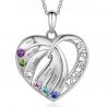 Family MOM heart pendant