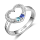 Open heart couple ring