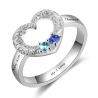 Open heart love ring