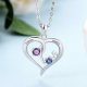 Personalized pendant love heart