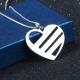 Heart family name pendant
