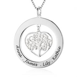 Pendentif cercle arbre de la vie