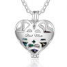 Heart cage necklace sterling silver