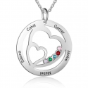 Family Double heart necklcace