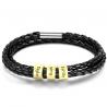 Bracelet cuir Famille-3 OR