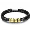 Bracelet cuir Famille-4 Or