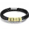 Bracelet cuir Famille-5 OR