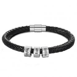 Bracelet cuir unique Famille-3