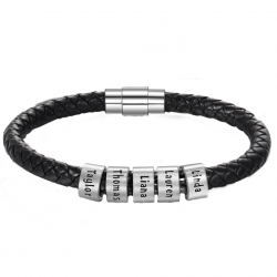 Bracelet cuir unique Famille-5
