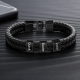 Bracelet cuir carré noir-3
