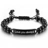 Unisex bracelet black beads
