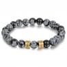 Unisex bracelet OBSIDIENNE SNOWFLAKE family-2