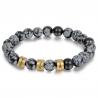 Unisex bracelet OBSIDIENNE SNOWFLAKE family-3
