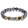 Unisex bracelet OBSIDIENNE SNOWFLAKE family-4