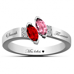 Bague couple marquise