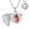 Porte-photo coeur empreintes bébé argent sterling