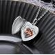 Porte-photo coeur classique argent sterling