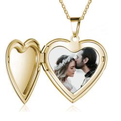 Heart photo locket pendant
