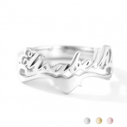 Ring first name underlined heart